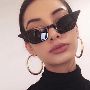 Chic Cat Eye Sleek Shades Black Sunglasses